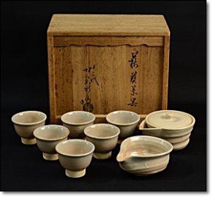 萩焼 煎茶道具