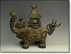 青銅 象 香炉